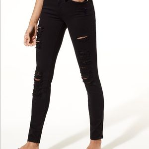 Frame Le Ripped Jeans Black Size 25